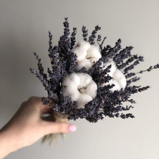Лаванда с хлопком: букеты цветов на заказ Flowwow
