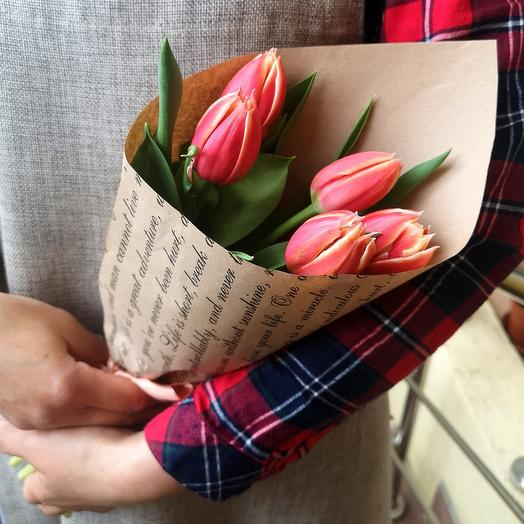 Весенний мини (цвет тюльпанов на выбор)