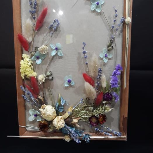 Флористический коллаж из сухоцветов: букеты цветов на заказ Flowwow