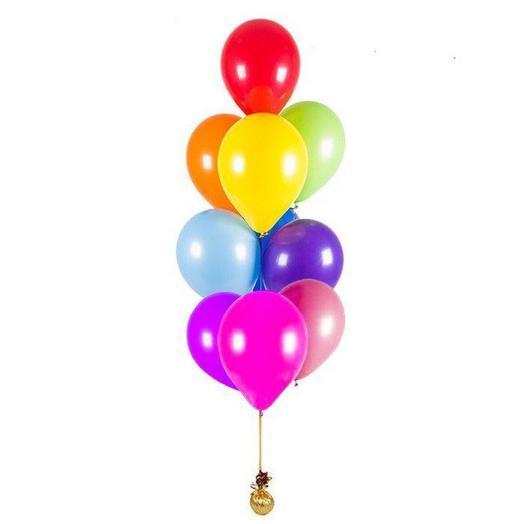 Фонтан из 9 разноцветных шаров