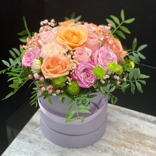 Цветы в коробке Натали