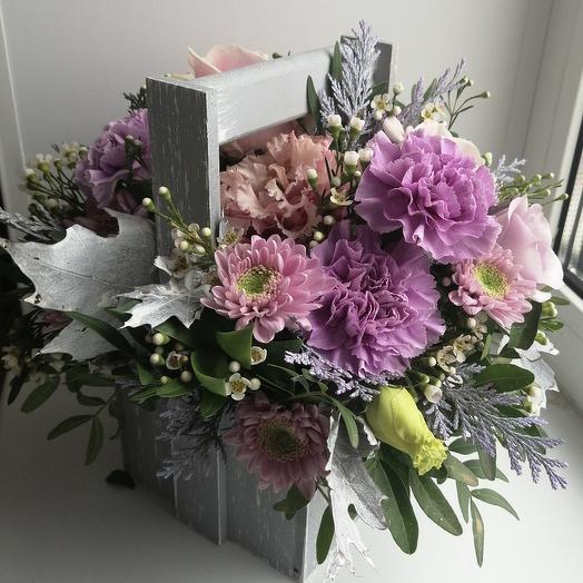 Цветы в ящике Утренний кофе