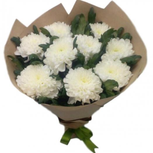 Букет из хризантем одноголовых