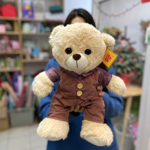 Мягкая игрушка Медвежонок в одежде🐻