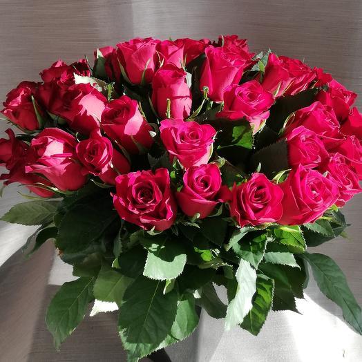 Красные розы 50см