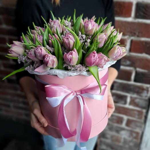 ПИОНОВИДНЫЕ тюльпаны в коробке