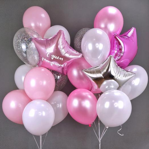 Набор шаров сладкий день рождения