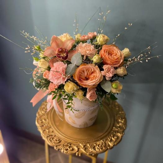 Цветы в коробке «Ирен»
