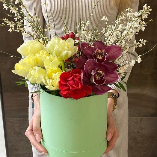 Тифани Цветы в коробке