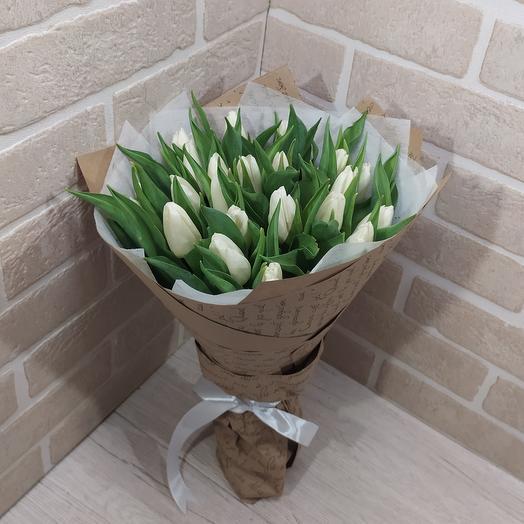 25 белый тюльпан