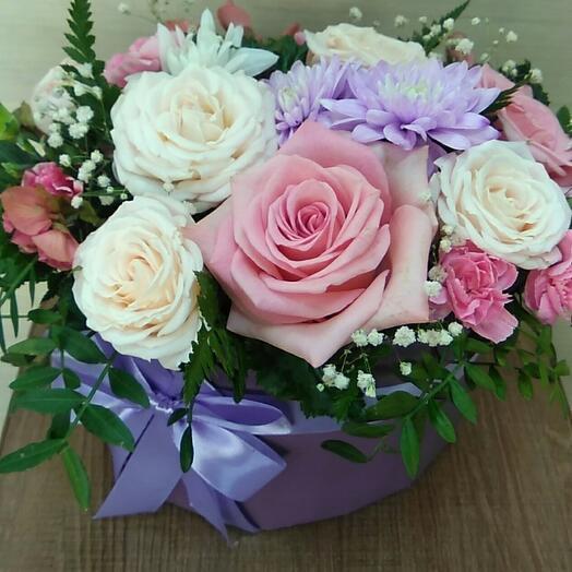 """Цветы в коробке """"Казанова"""""""