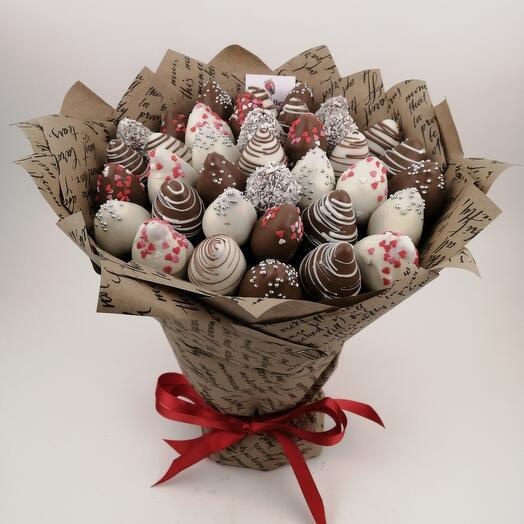 Шоколадный крафтовый букет