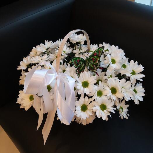 Корзина с хризантемами 😍