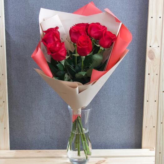 Роза (Эквадор)50см 9шт в упаковке