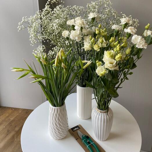 Цветы и вазы «White»