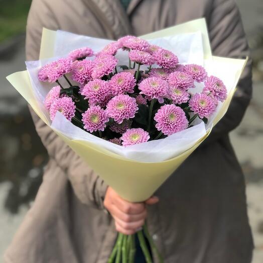 Букет-комплимент из розовой сантини