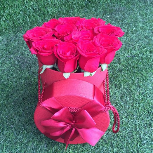 Коробка 15 роз: букеты цветов на заказ Flowwow
