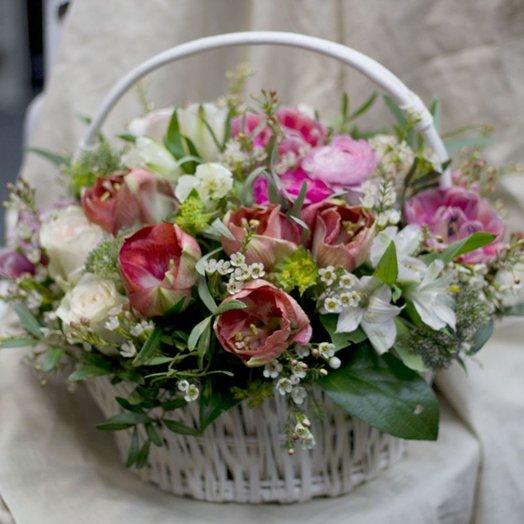 Лукошко нежность: букеты цветов на заказ Flowwow