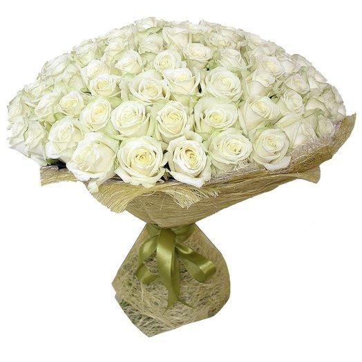 101 роза 50 см Аваланж: букеты цветов на заказ Flowwow