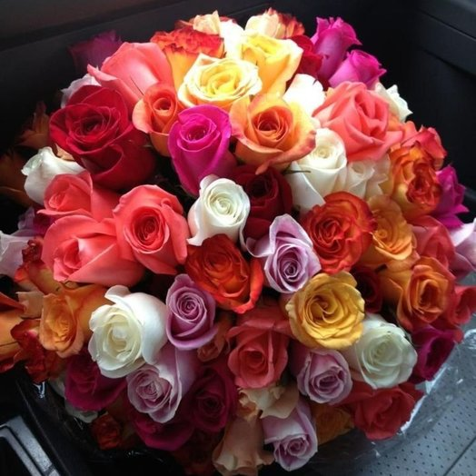 Букет из 55 роз: букеты цветов на заказ Flowwow