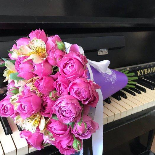 Букет из пионовидной розы в конверте: букеты цветов на заказ Flowwow