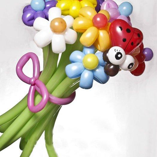 Букет из 11цветных ромашек