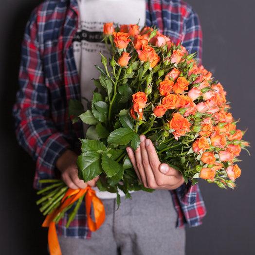 25 кустовых роз 60 см.: букеты цветов на заказ Flowwow