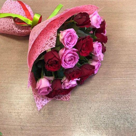 """Букет роз """"Pink Red"""": букеты цветов на заказ Flowwow"""