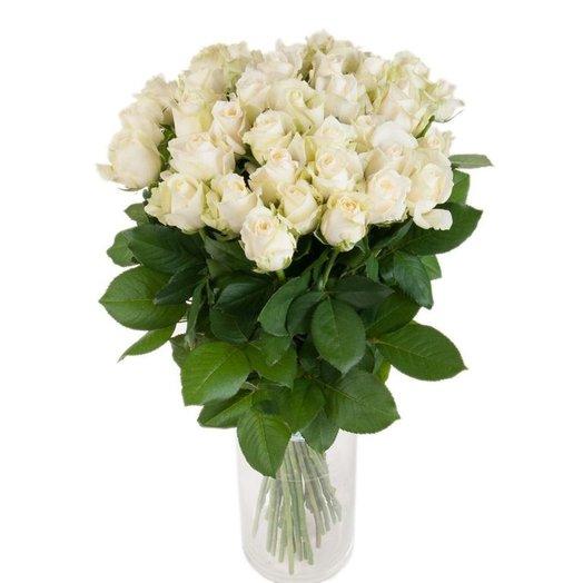 Букет белых роз (35 шт): букеты цветов на заказ Flowwow