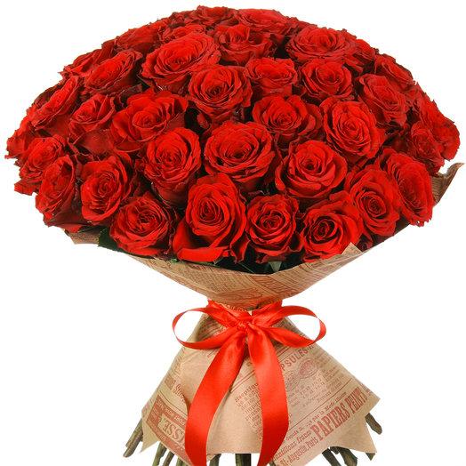 """Букет из 51 красной розы """"Апер Класс"""": букеты цветов на заказ Flowwow"""