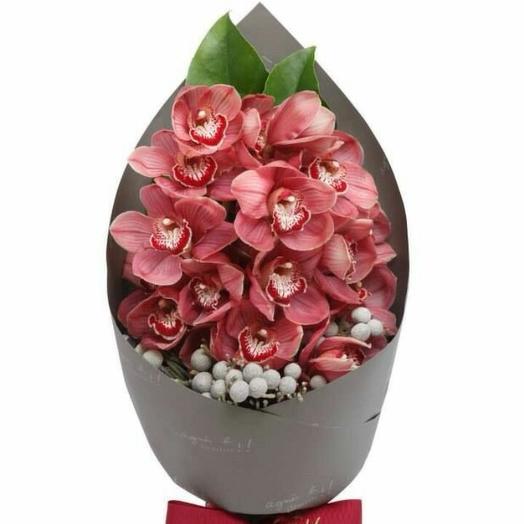 Букет с мини орхидеями: букеты цветов на заказ Flowwow