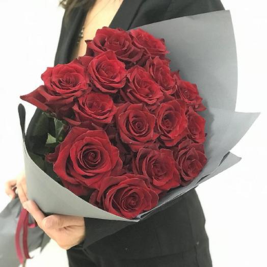 Букет из 15 роз: букеты цветов на заказ Flowwow