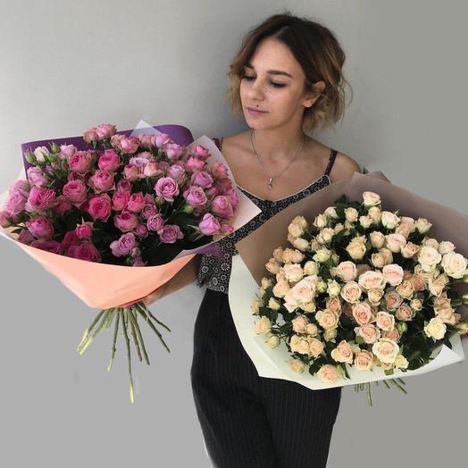 Букет из кустовой: букеты цветов на заказ Flowwow