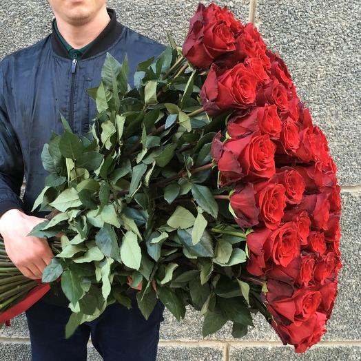 35 роз 100 см: букеты цветов на заказ Flowwow
