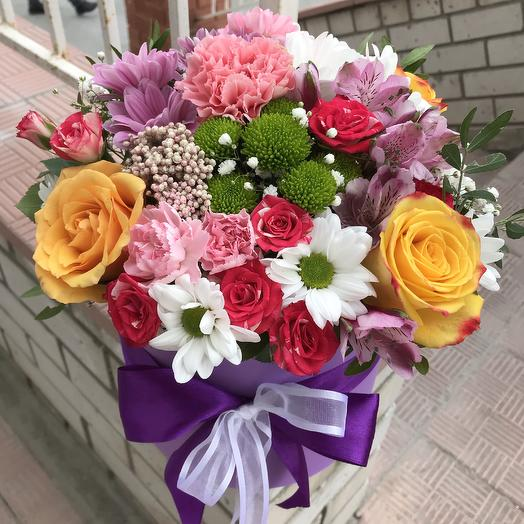A vibrant mix: flowers to order Flowwow