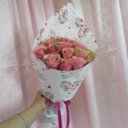 15 роз Кения: букеты цветов на заказ Flowwow