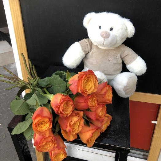 Мишутка🐻🧡: букеты цветов на заказ Flowwow