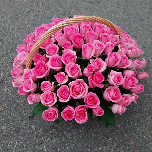 Розовая корзина