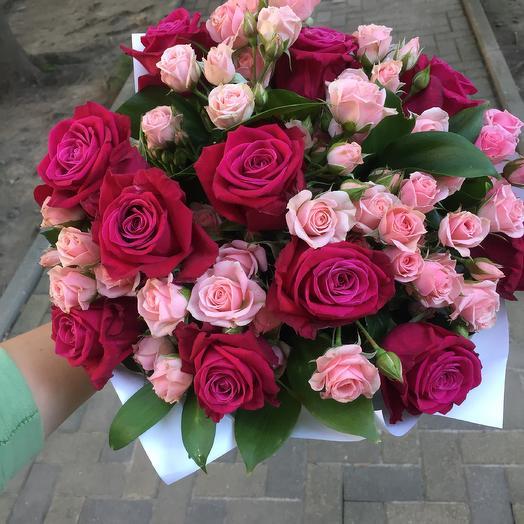 Букет «Розовый пунш»: букеты цветов на заказ Flowwow