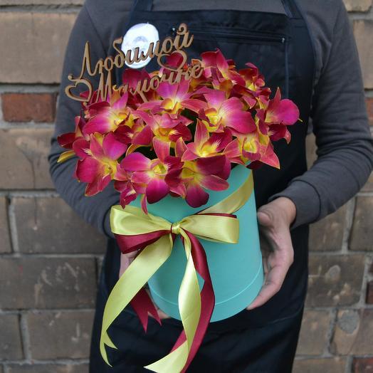 Шикарная коробка маме ( Топпер маме в подарок): букеты цветов на заказ Flowwow