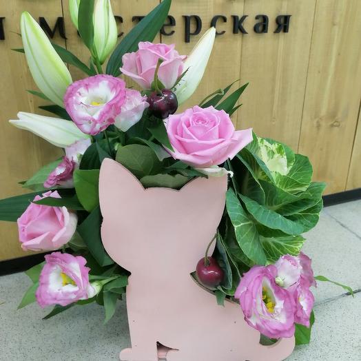 Композиция Мяу: букеты цветов на заказ Flowwow