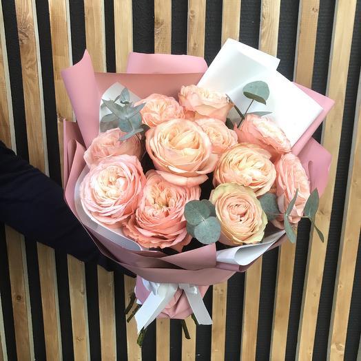 Авторский букет Peach: букеты цветов на заказ Flowwow