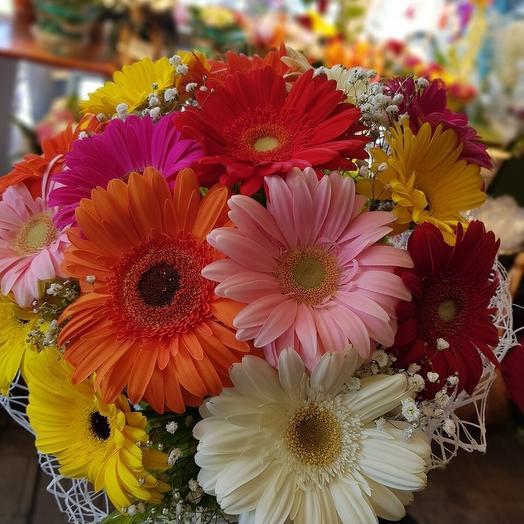 Герберная радость: букеты цветов на заказ Flowwow