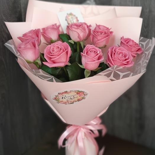Монобукет из розовой розы