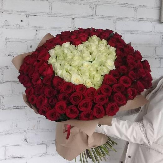 Букет 101 роза на День Святого Валентина