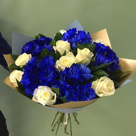 Сине белый: букеты цветов на заказ Flowwow