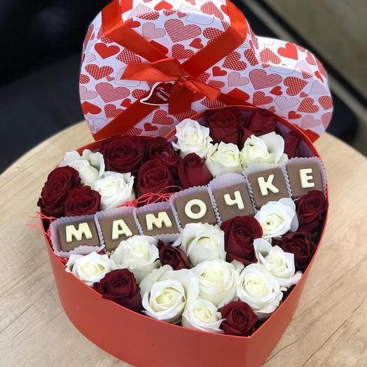 Сердце мамочке: букеты цветов на заказ Flowwow