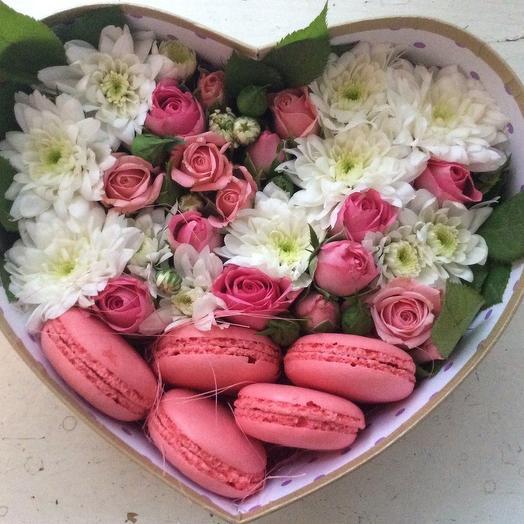 """живие цветочки в коробке """"Очаровашка"""""""