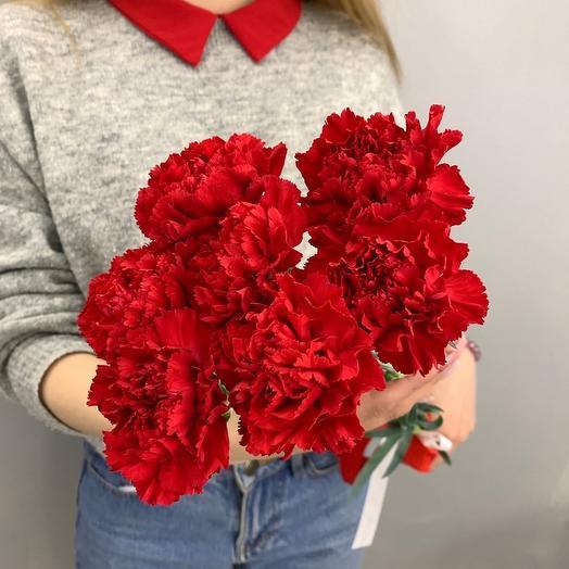 7 гвоздик: букеты цветов на заказ Flowwow