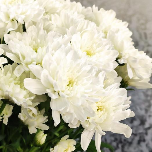 Букет из белой хризантемы